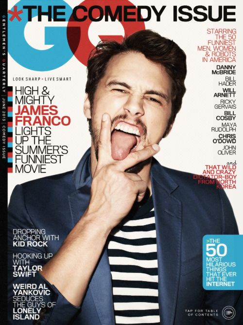James Franco for GQ June 2013.