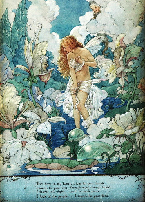 saveflowers1:  Art by Harold Gaze,  circa 1920s.