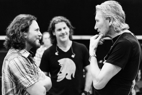 Eddie Vedder and Roger Waters.