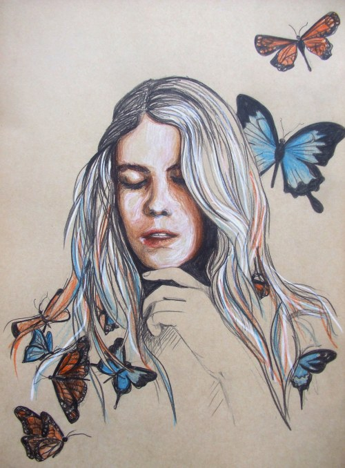 eatsleepdraw:   Coloured Pencil on Grey Paper A3 (29.7x42cm) http://aesthetic-explorations.tumblr.com/
