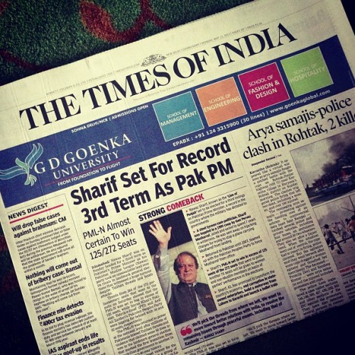 The Times of India #india #india2013 #newspaper