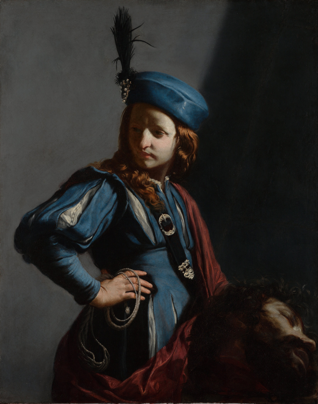 Guido Cagnacci, david with head of goliath, c.1645-50