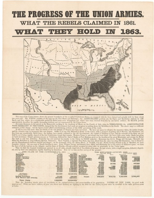 maps united states us civil war 1863