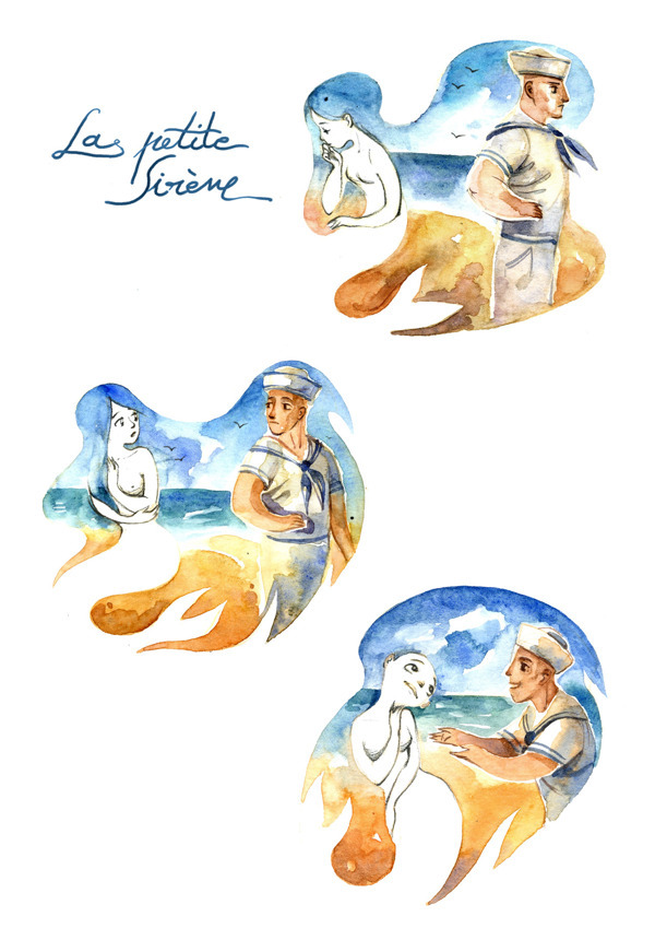 "fairytalemood:  ""The Little Mermaid"" by Ileana Surducan"