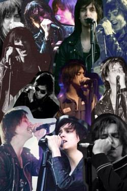 eveniingsun:  a collage of julian and microphones that causes me physical pain