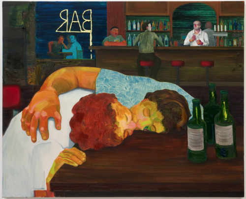 crispycrunchlunchpunch:  Nicole Eisenman - Sloppy Bar Room Kiss