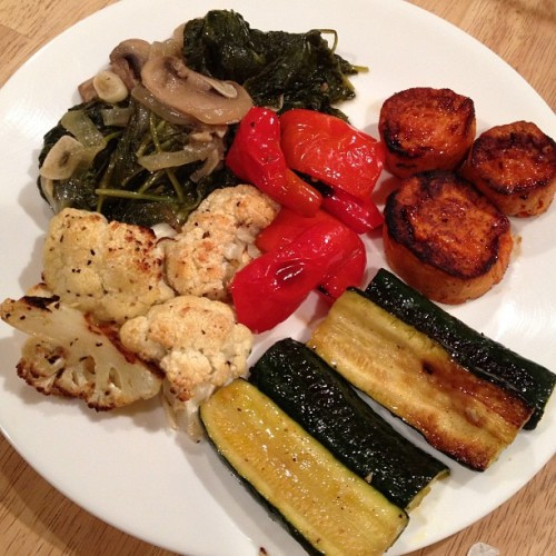 #redpeppers#Zucchini#yams#Cauliflower#mushrooms#spinach#garlic#onions#vegan#yummy#foodporn