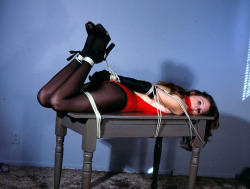putmeinherplace:  Technicolor hogtie. As I already noted, I love