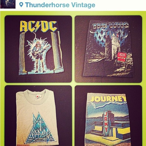 #regram from #thunderhorsevintage 666% authentic concert tees n jerseys #heavymetal and #arenarock #flair to add to our shop rock n roll collection #thunderhorse #vintage