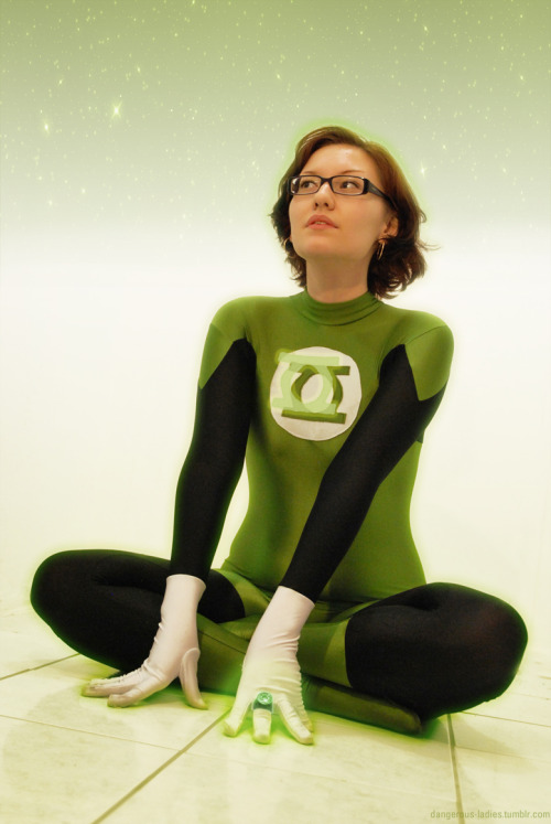 Starting simulation! Earth's newest Green Lantern meditates on her new-found power from her personal simulation room. Another quick snap of Maya from last night, taken in my apartment and quickly spruced up in Photoshop. Just a bit of fun :) The original. - Jenn