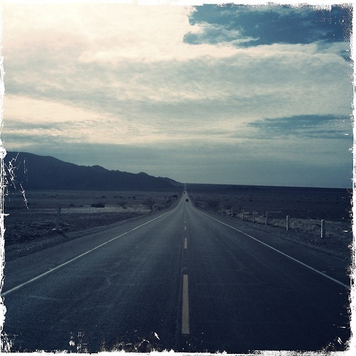 Vanishing Point  #panamerican #road #vanishingpoint #cloudy #nazca #lines #peru #neverending #horizon #asphalt #blue #straight #theroad
