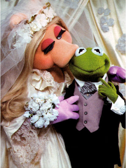 wankfish:  Miss Piggy and Kermit: Are They Married or Not? - The Bride's Guide : Martha Stewart Weddings on We Heart It - http://weheartit.com/entry/27784727/via/iona_levy
