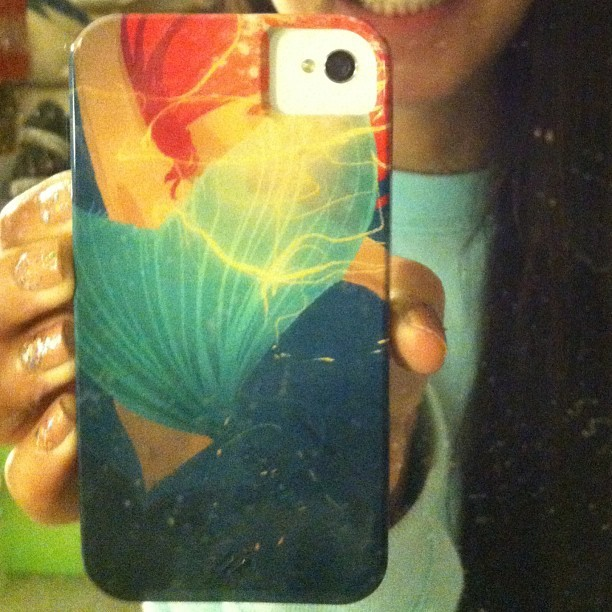 One of the main reasons why I wanted an iPhone! #case #thelittlemermaid #ariel