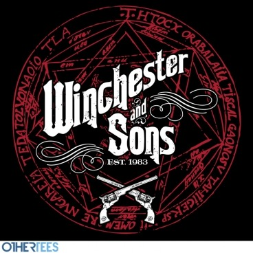 Back by popular demand: Winchester & Sons tee is on sale! (via OtherTees - Winchester and Sons by mandingo - 7£ / 8.5€ / 11$ / 33zł)