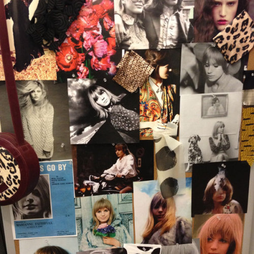 The WHIT inspiration board at the CFDA Incubator. Photographed by Julia Rubin.