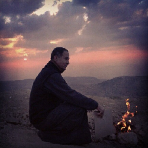 Amazing Dad #Dad #amazing #super_dad #view #Jordan_valley #Jordan #trip #sun #sunset #fire #orange_sky #sky #orange #love #loving_nature #lovely #staring #making #tea #making_tea
