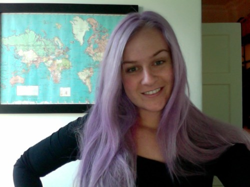 love the purple hair
