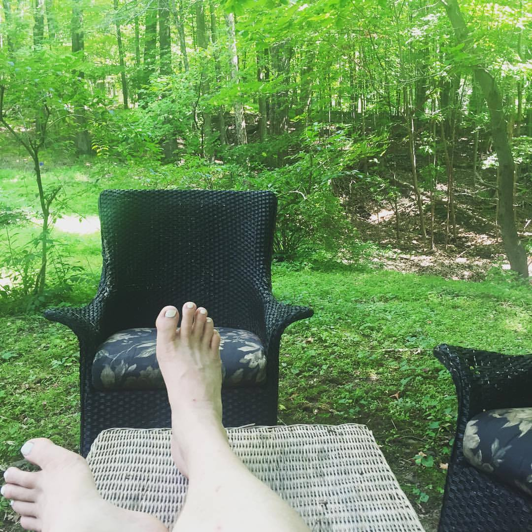 This is my office in the summertime. I love taking calls out here in the yard. #Woodstock #Catskills #hudsonvalley