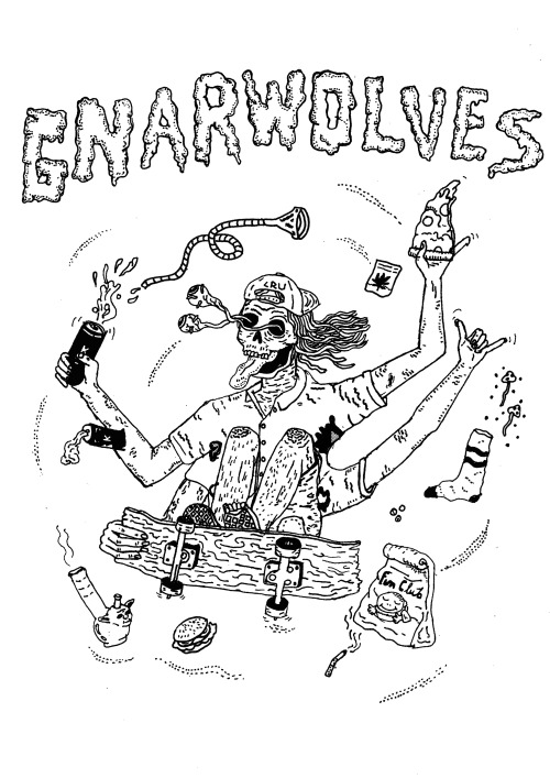 NEW DESIGN! GRAB A TOTE BAG HERE! TEES UP SOON! http://gnarwolvespunx.bigcartel.com/