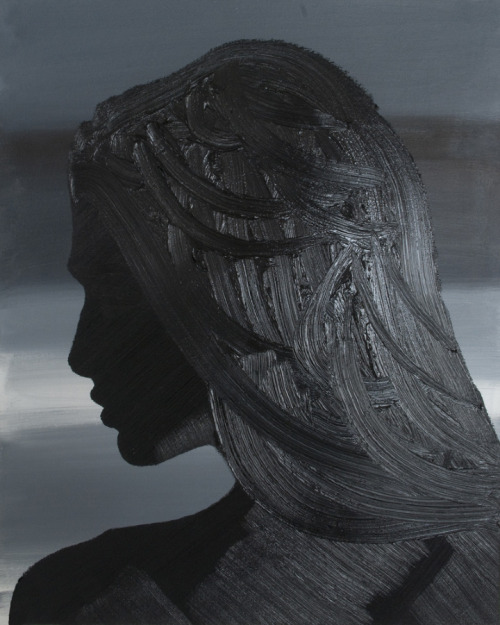 Erik Olson Black Wave, 2012 oil on canvas, 20 x 16 inches VIA