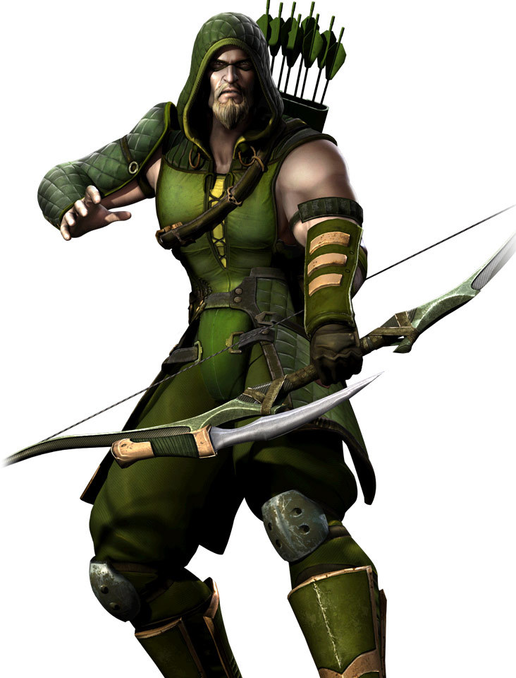 spoonr:  Green Arrow Injustice: Gods Among Us character art
