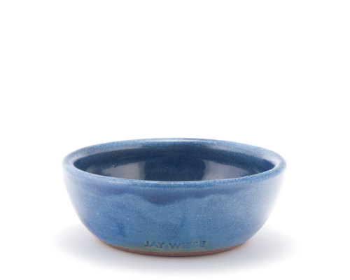 jaywiesepotterystudio:  Small blue pottery bowl by Jay Wiese on Etsy
