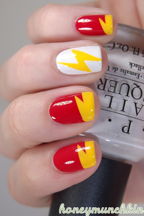Manicure Monday: The Flash, by HoneyMunchkin