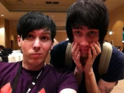dan-will-make-you-howell:  leyoutuberostrich:  Literally how much more adorableness can you get into one photo?  they look like brothers omfg