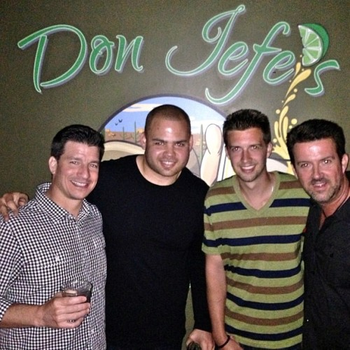 Quattro Jeffs at Don Jefe's. Jeff Sharon, Jeff Faine, Lil Fo and J Fo (at Don Jefe's Tequila Parlour)