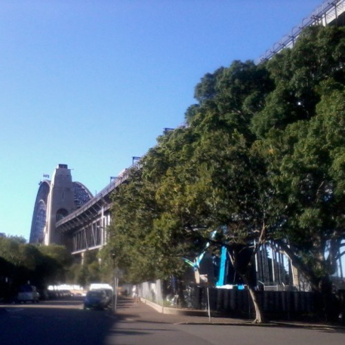 A different view of the Sydney Harbour Bridge from gorgeous The Rocks area. Did the BridgeClimb! Living the Travelife at #ate2013 @travelifemag @tourismaus