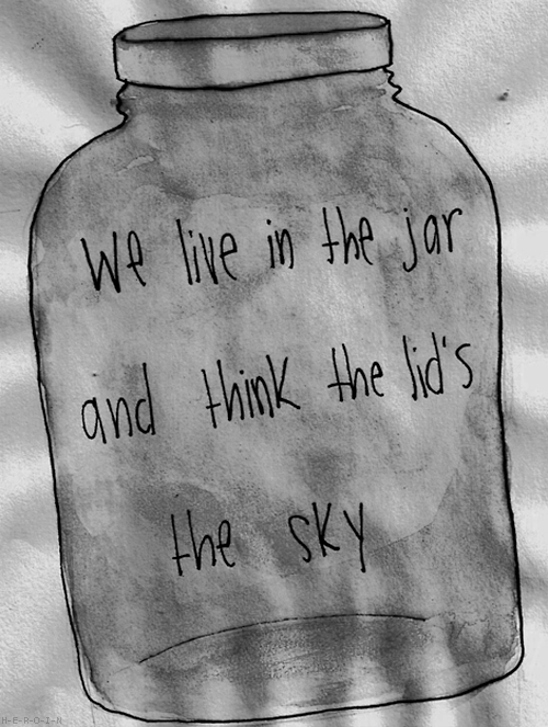"""We live in the jar and think the lid is the sky"""