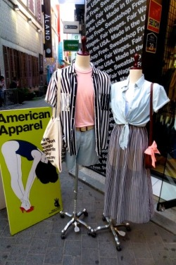 americanapparel:  Stripes and Denim in Seoul. May 2013.