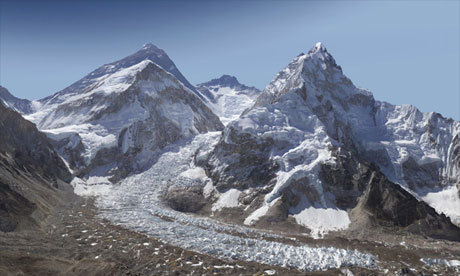 guardian:  This is pretty cool, zoom in on Mount Everest in a gigapixel photograph. Click on the image to give it a try. Photograph: GlacierWorks