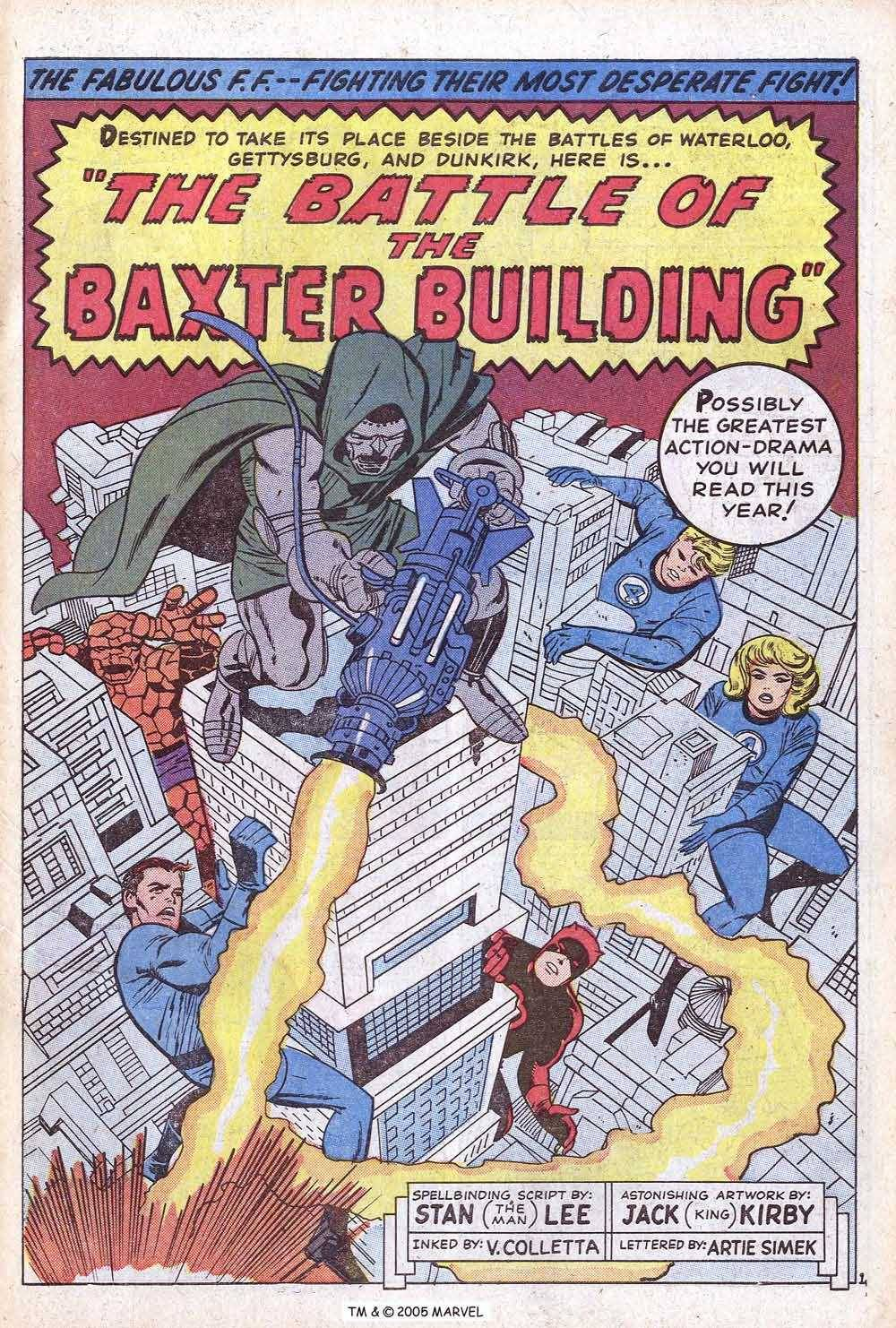 Like the sound of air rushing out of a balloon, here's Vince Colletta.  Fantastic Four #40 (1965)