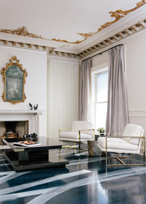 the ceilings, the floors, and everything in the middle (via Interiors: Catherine Kwong's Rock 'n Roll Hideaway)