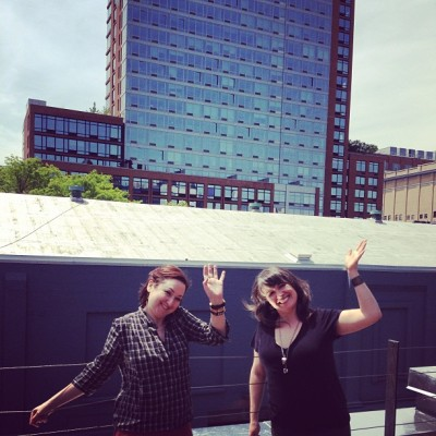 #rooftop deck from our shoot today! Say hi to Liz and Katie #nyc