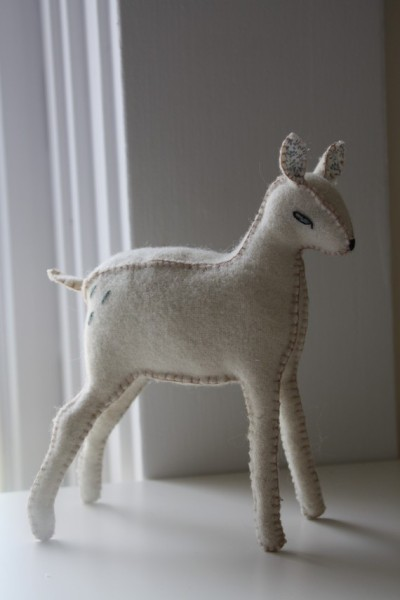"""Little Deer"" Plush Sculpture by littleloveblue"