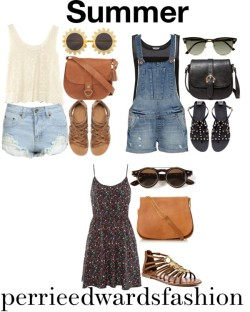 perrieedwardsfashion:   Summer by joanacouto-tumblr featuring lace tops