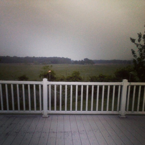 I don't know, I just love the view off my deck. (: #scenery #morning #muggy