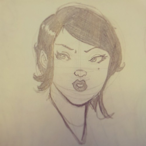 Japanese girl sketch