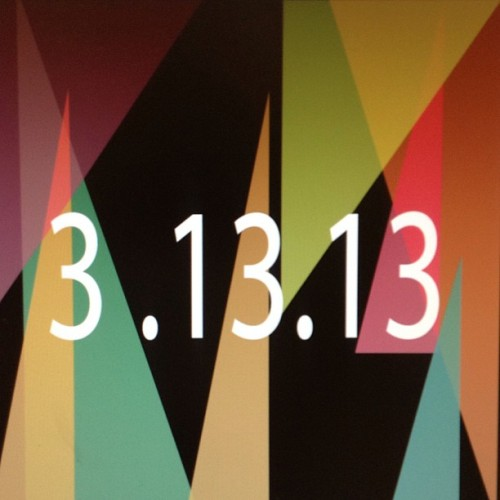 Today… 3.13.13 ^_^ … Good luck for all !!! #3.13.13 #goodluck #special #fun #