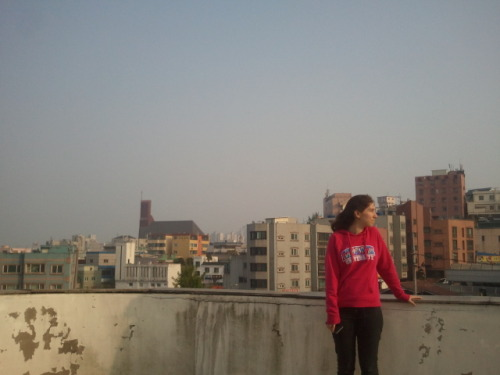 sokoemily:  Standing on a rooftop in Incheon, South Korea