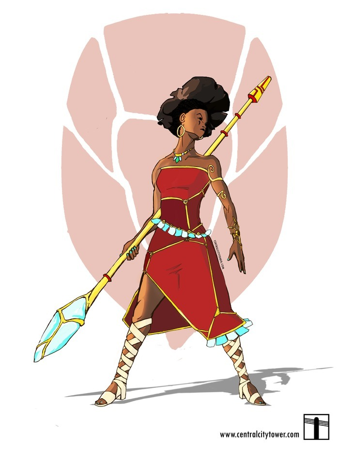 blackfolksmakingcomics:  Princess Zahara: A fearless princess, destined to inherit rule of the Five Kingdoms. A gifted warrior and a tech savvy teen, to her, formalities have always been in the way of getting things done. Still she has a bit more trouble relating to common people than she'd like to admit, but she hopes to soon be able to see her nation first hand instead of from behind the palace walls. She's equipped with an ancient familial magic staff and a multipurpose tool strapped to her wrist that has gotten her in and out of a lot of trouble. Responsible and brave, she hopes to one day be a great queen, and command the same presence as her mother.. Today, I realized the need to make Spider Stories a reality is stronger, especially after this one Kickstarter story about a stereotypical comic started popping up. I'd rather see positive storytelling rather than more tales of people ignorant of a culture willing to mock it for profit.  Make the Spider Stories animated film a reality. The brothers Agbaje need your support in these last two weeks.