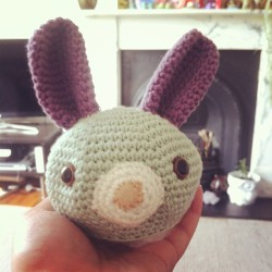 Bunny head done #crochet #amigurumi