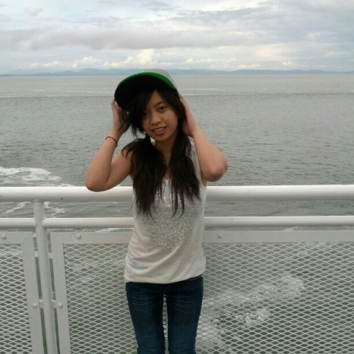 Yaaa!! My first time on a ferry!! Vancouver island!! #fun #trip #Vancouver #water #boat #selfie #hashwhore #hashtag #cantstophashtagging #instacutie #asian #random # choir #carileerules #heytatiana #