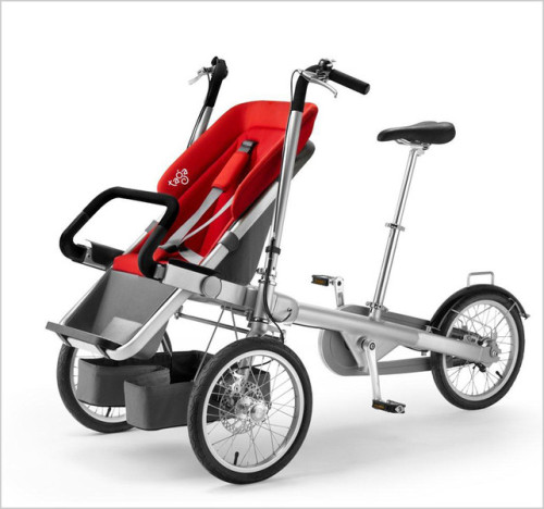 (A Clever Stroller That Converts Into An Adult Trike In 20 Seconds)