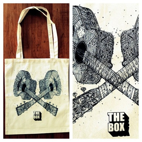 Tote bags I made for #theboxaryspace