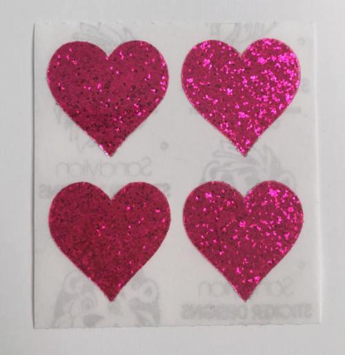 glitter hearts pink hearts glitter stickers stickers