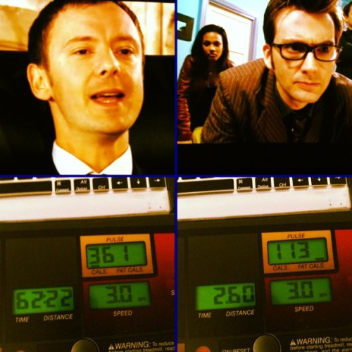 #TARDIS #Treadmill time hath ended. But I finally met #TheMaster vs #TheDoctor  #DoctorWho #Walking #MarthaJones #Whovian #Exercise #Tennant #Workout #10thdoctor