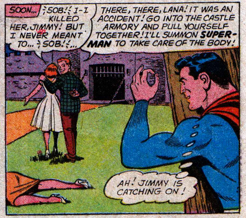 "twentypercentcooler:  ""I'll summon Superman to take care of the body."" SUPERMAN #150  I KNEW IT"